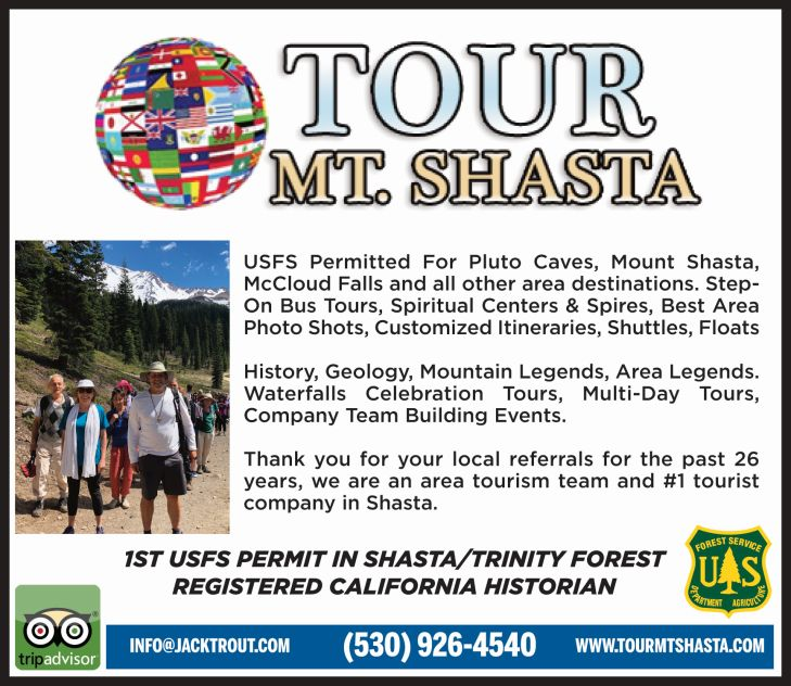 Tour Mt Shasta news